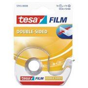 "Ragasztószalag, kétoldalas, adagolón, 12 mm x 7,5 m, TESA ""Tesafilm"""