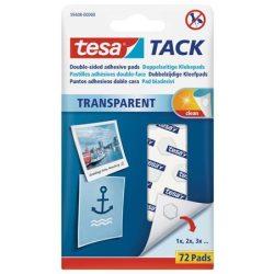 """Ragasztópont, kétoldalas, 72 db, TESA """"Tack"""", átlátszó"""