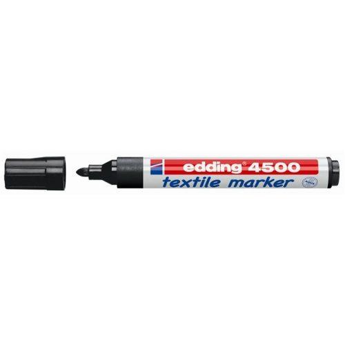 "Textilmarker, 2-3 mm, kúpos, EDDING ""4500"", fekete"