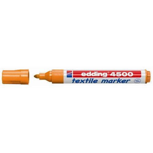 """Textilmarker, 2-3 mm, kúpos, EDDING """"4500"""", narancssárga"""