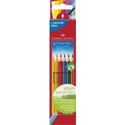 """Színes ceruza készlet, háromszögletű, FABER-CASTELL """"Grip 2001"""", 6 különböző szín"""
