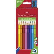 """Színes ceruza készlet, háromszögletű, FABER-CASTELL """"Jumbo"""", 10 különböző szín"""