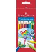 """Színes ceruza készlet, háromszögletű, FABER-CASTELL """"Papagáj"""", 12 különböző szín"""