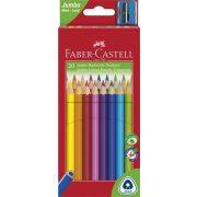 """Színes ceruza készlet, háromszögletű, FABER-CASTELL """"Jumbo"""", 20 különböző szín"""