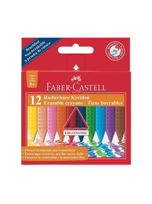 """Zsírkréta, háromszögletű, FABER-CASTELL """"Grip"""", 12 különböző szín"""