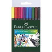 """Rostirón készlet, 0,4 mm, FABER-CASTELL """"Grip"""", 10 különböző szín"""