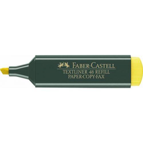 """Szövegkiemelő, 1-5 mm, FABER-CASTELL, """"Textliner 48"""", sárga"""