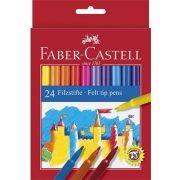 Filctoll készlet, FABER-CASTELL, 24 különböző szín