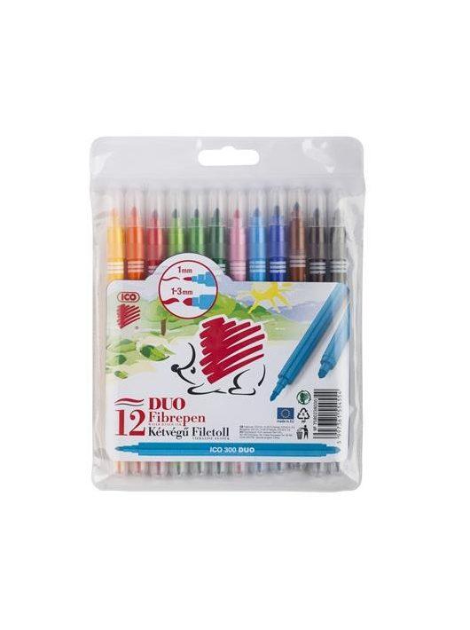 """Rostirón, 1 mm, ICO """"300 DUO"""", 12 különböző szín"""