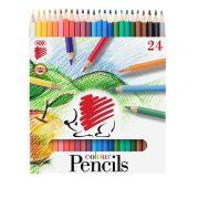 """Színes ceruza készlet, hatszögletű, ICO """"Süni"""", 24 különböző szín"""