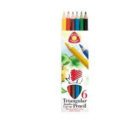 """Színes ceruza készlet, háromszögletű, vastag, ICO """"Süni"""", 6 különböző szín"""
