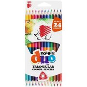 """Színes ceruza készlet, kétvégű, háromszögletű, ICO """"Süni"""", 12 különböző szín"""