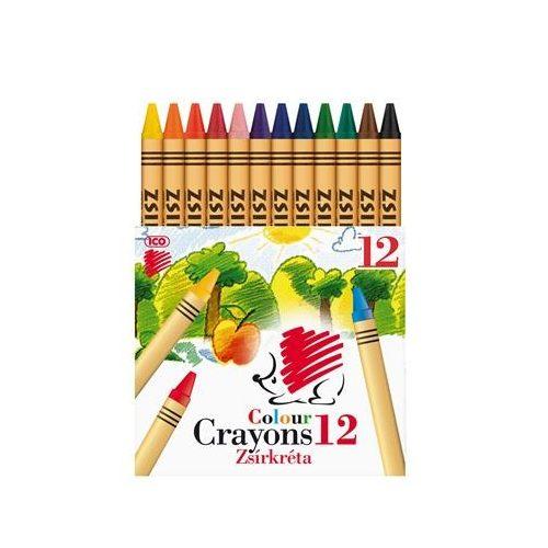 """Zsírkréta, ICO """"Süni"""", 12 különböző szín"""