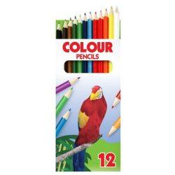 """Színes ceruza készlet, ICO """"Papagáj"""", 12 különböző szín"""