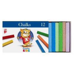 """Táblakréta, ICO """"Creative Kids"""", 12 különböző szín"""