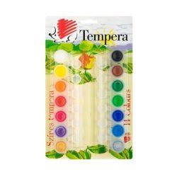 """Tempera készlet, tégelyes, ICO """"Süni"""", 14 különböző szín"""