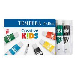 "Tempera készlet, 6 darabos, ICO ""Creative Kids"""