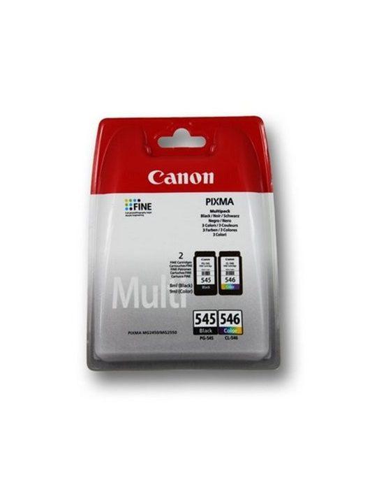 PG-545/CL-546 Tintapatron multipack Pixma MG2450, MG2550 nyomtatókhoz, CANON fekete, színes, 2x180 oldal