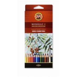 """Akvarell ceruza készlet, KOH-I-NOOR """"Mondeluz 3716/12"""" 12 különböző szín"""