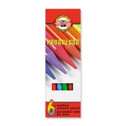 """Színes ceruza készlet, henger alakú, famentes, KOH-I-NOOR """"Progresso 8755/6"""", 6 különböző szín"""
