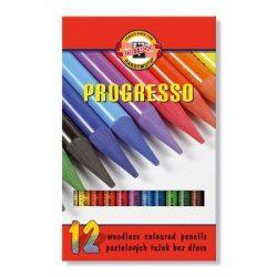 """Színes ceruza készlet, famentes, KOH-I-NOOR """"Progresso 8756/12"""", 12 különböző szín (TKOH8756)"""