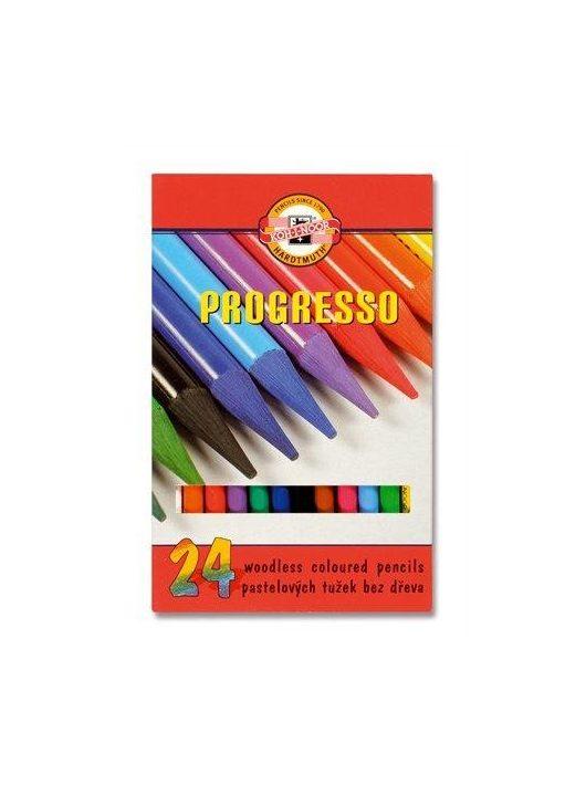 """Színes ceruza készlet, famentes, KOH-I-NOOR """"Progresso 8758/24"""", 24 különböző szín (TKOH8758)"""