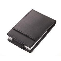 Bankkártyatartó, bőr, 10 db-os, RFID védelemmel, TROIKA, fekete