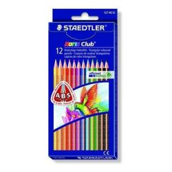 """Színes ceruza készlet, háromszögletű, STAEDTLER """"Noris Club"""", 12 különböző szín (TS127NC12)"""