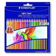 """Színes ceruza készlet, háromszögletű, STAEDTLER """"Noris Club"""", 24 különböző szín (TS127NC24)"""