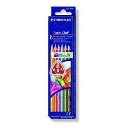 """Színes ceruza készlet, háromszögletű, STAEDTLER """"Noris Club"""", 6 különböző szín (TS127NC6)"""