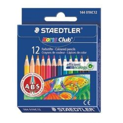 """Színes ceruza készlet, hatszögletű, félhosszú, STAEDTLER """"Noris Club"""", 12 különböző szín (TS14401NC12)"""