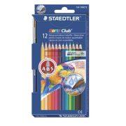 """Akvarell ceruza készlet, ecsettel, STAEDTLER """"Noris Club"""", 12 különböző szín"""