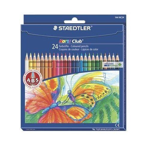 """Színes ceruza készlet, hatszögletű, STAEDTLER """"Noris Club"""", 24 különböző szín (TS144NC24)"""
