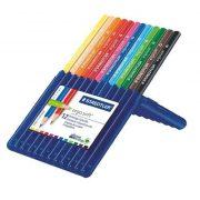 """Színes ceruza készlet, háromszögletű, STAEDTLER """"Ergo Soft Box"""", 12 különböző szín (TS157SB12)"""