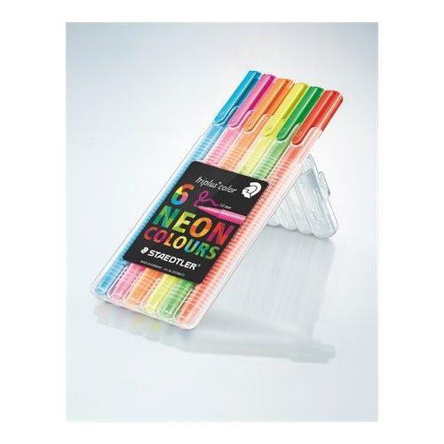 """Rostirón készlet, 1 mm, STAEDTLER """"Triplus"""", 6 neon szín"""
