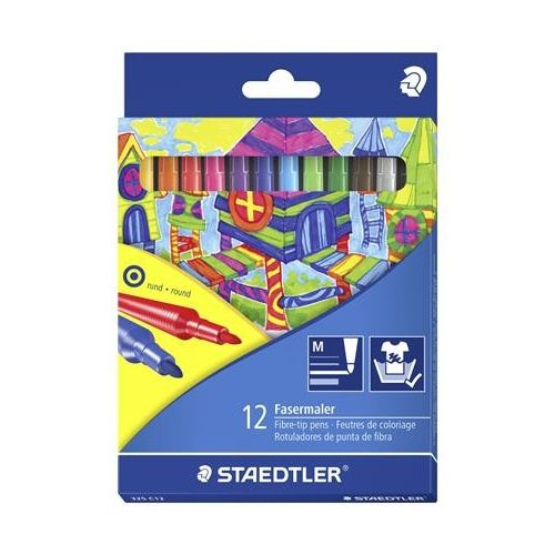 Rostirón készlet, 1 mm, STAEDTLER, 12 különböző szín