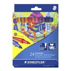 Rostirón készlet, 1 mm, STAEDTLER, 24 különböző szín
