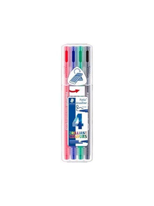"""Tűfilc készlet, 0,8 mm, STAEDTLER """"Triplus Box"""", 4 különböző szín"""