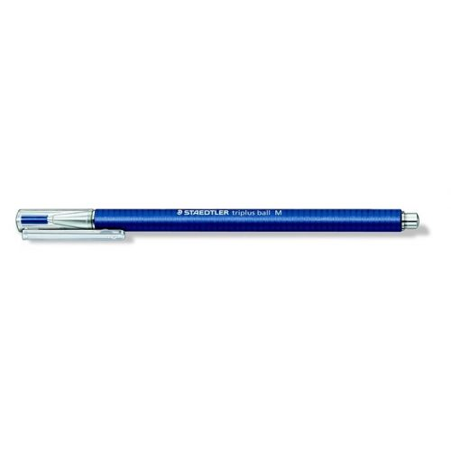 "Golyóstoll, 0,5 mm, kupakos, STAEDTLER ""Triplus"", kék"