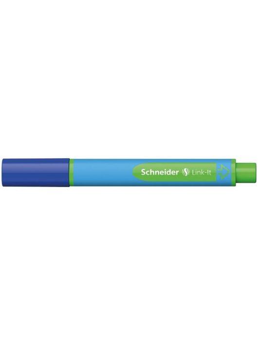 """Golyóstoll, 0,7 mm, SCHNEIDER """"Link-it"""", összeilleszthető, kék"""