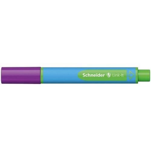 """Golyóstoll, 0,7 mm, SCHNEIDER """"Link-it"""", összeilleszthető, lila"""
