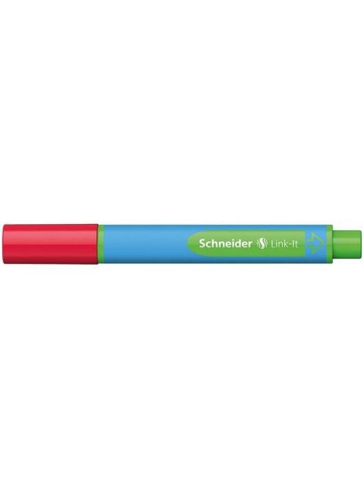 """Golyóstoll, 0,7 mm, SCHNEIDER """"Link-it"""", összeilleszthető, piros"""