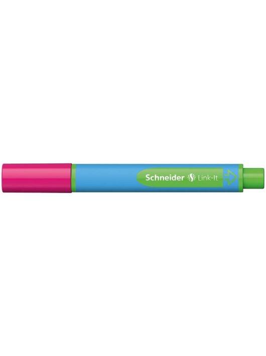"""Golyóstoll, 0,7 mm, SCHNEIDER """"Link-it"""", összeilleszthető, rózsaszín"""