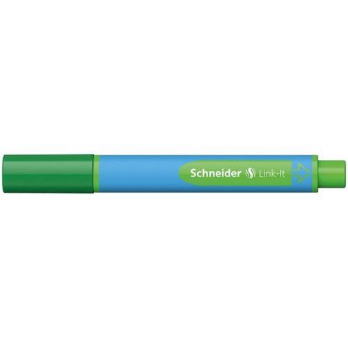 """Golyóstoll, 0,7 mm, SCHNEIDER """"Link-it"""", összeilleszthető, zöld"""