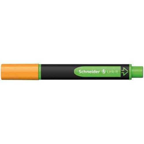 """Szövegkiemelő, 1-4 mm, SCHNEIDER """"Link-it"""", összeilleszthető, narancssárga"""