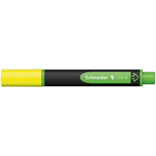 """Szövegkiemelő, 1-4 mm, SCHNEIDER """"Link-it"""", összeilleszthető, sárga"""