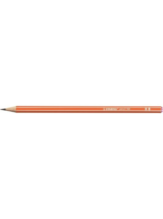 "Grafitceruza, HB, hatszögletű, STABILO ""Pencil 160"", narancs"