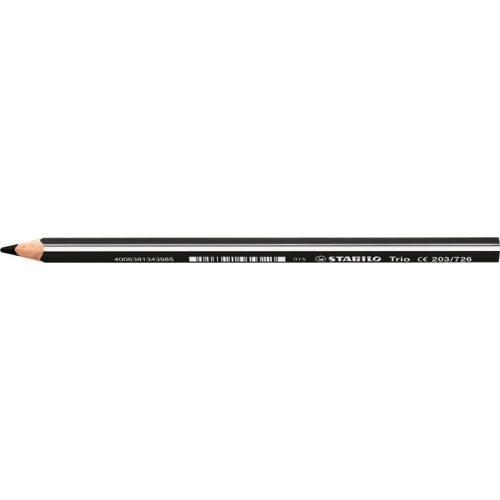 "Színes ceruza, háromszögletű, vastag, STABILO ""Trio"", fekete"