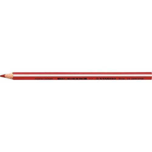 """Színes ceruza, háromszögletű, vastag, STABILO """"Trio"""", piros"""