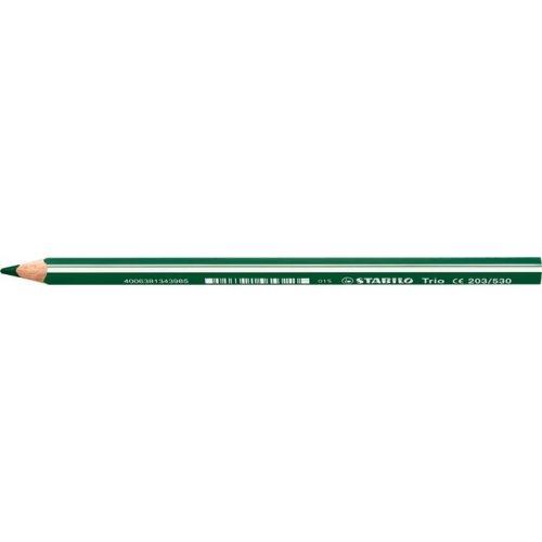 "Színes ceruza, háromszögletű, vastag, STABILO ""Trio"", zöld"